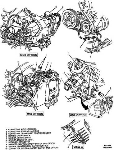 pontiac grand prix 3 0 engine compartment wiring