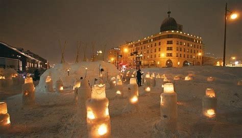 of the snows light otaru snow light path festival otaru yuki akari no michi