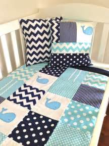 Baby Quilt Set Designs Whale Baby Quilt Set Baby Boy Crib Quilt And Two Cushion