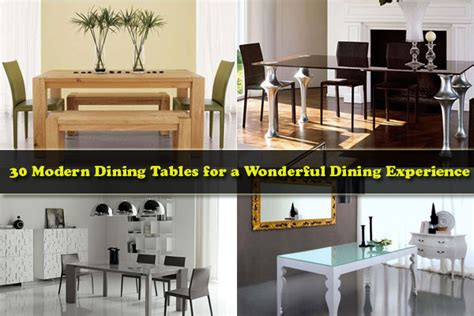 Kitchen Wood Furniture 30 modern dining tables for a wonderful dining experience