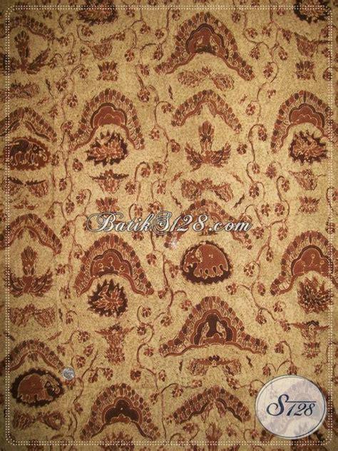 Batik Kesik Soga batik tulis alam bahan katun primis halus motif gajah birowo coklat soga k954ta toko batik