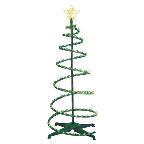 trim a home 174 4 150l lighted spiral tree green