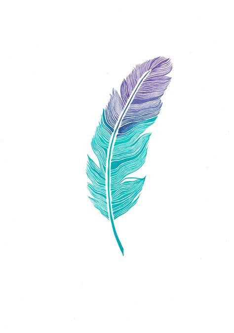 water color feather watercolor feather print 03 11x16 35 00 via etsy