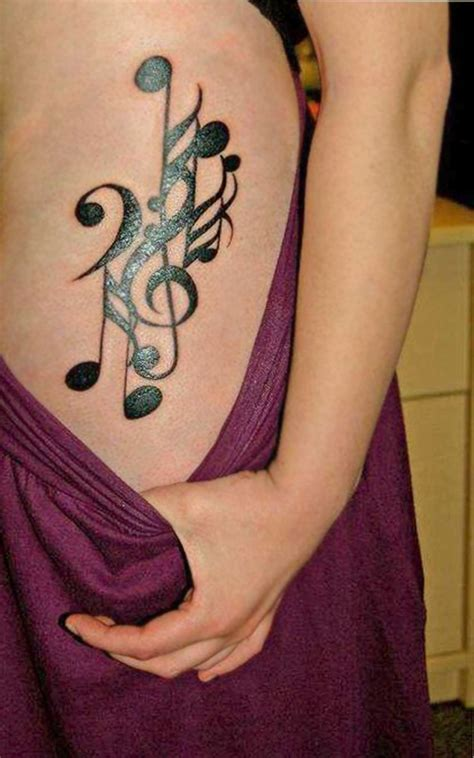 new tattoo hot to touch melody music tattoo for hot girls hip sheplanet