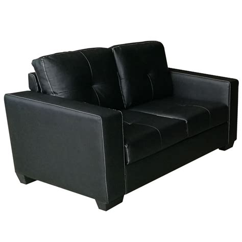 pu leather couch nikki 2 seater pu leather sofa couch in black buy