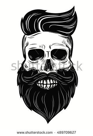 beard skull stock images royalty free images amp vectors