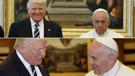 trump pope francis the tale of donald trump s visit with pope francis in 2