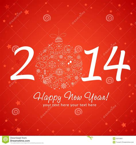 new year greetings design 2014 happy new year greeting card royalty free stock
