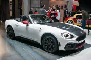 Fiat Abarth Spider Listen To The Angry Exhaust Of The 2017 Fiat 124 Spider