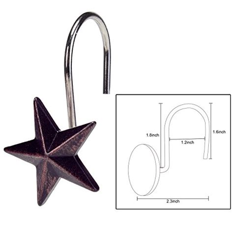 decorative curtain hooks agptek 174 star decorative shower curtain hooks set of 12