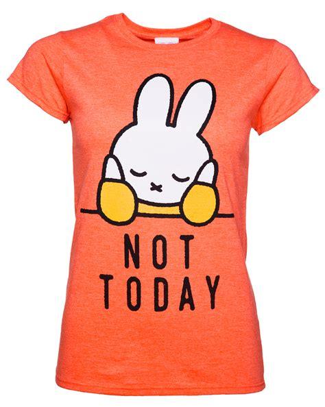 women s miffy not today slogan t shirt