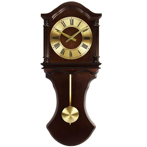 wall clocks with bedford clocks wall clock with pendulum and chime bclk1005