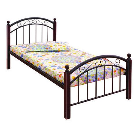 metal and wood bed buy single bed metal wood fk sb 502 e online india at