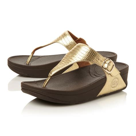 sandals for fitflop leather toe flat buckle sandals in