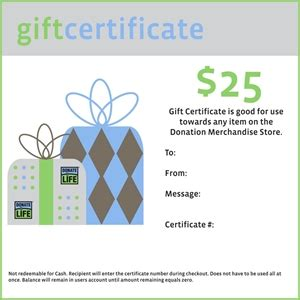 donation for gift donation merchandise gift card