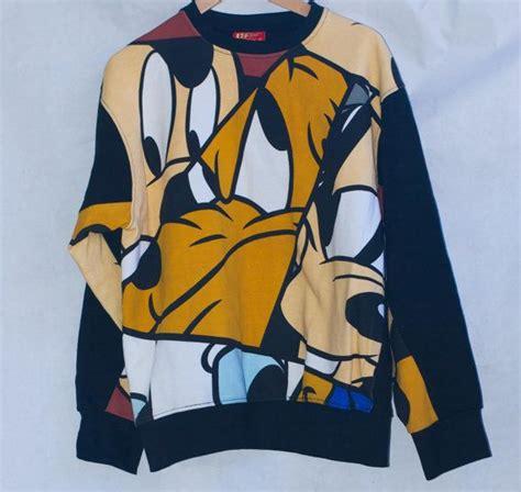 Cotton On X Disney Goofy Sweatshirt Reserved Disney Sweatshirt With Mickey Pluto And Goofy