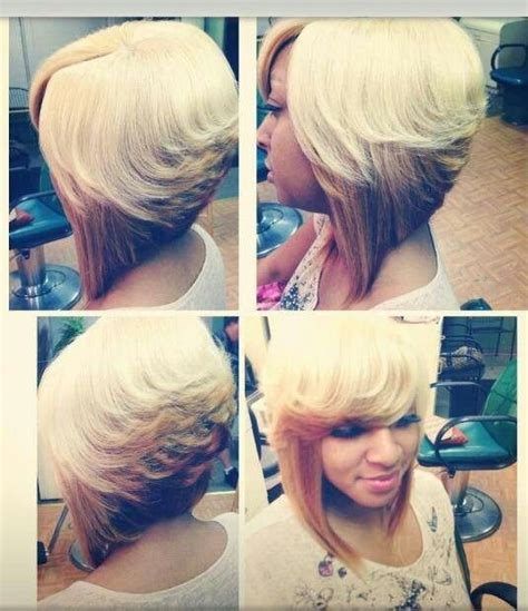 reverse bob with two tone color two toned bob cute bobs pinterest nice colors and