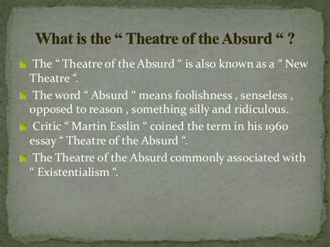 Absurd Theatre Waiting For Godot Essay by Waiting For Godot As An Absurd Theater