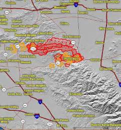 southern california fires today map california update on southern california fires wildfire