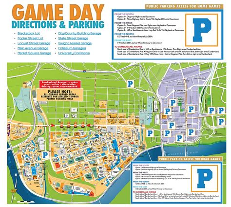 utk map special events parking transit services