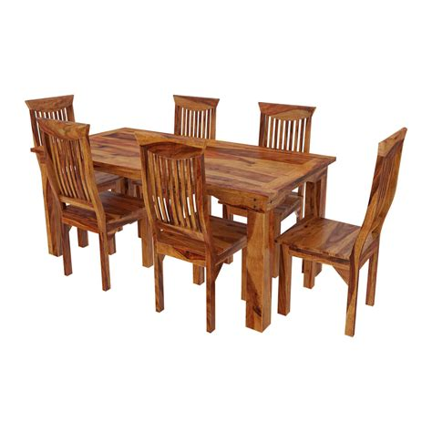 rustic dining tables and chairs idaho modern rustic solid wood dining table chair set