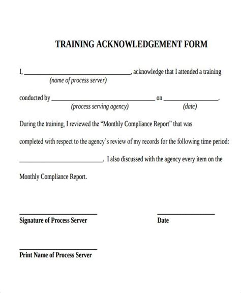 harassment acknowledgement of receipt form template acknowledgement letter templates 6 free word
