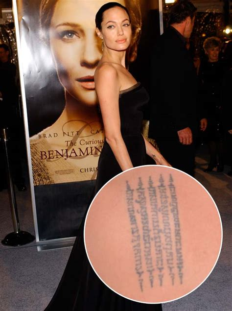 tattoo angelina jolie rücken celebrity tattoos that will inspire your own body ink