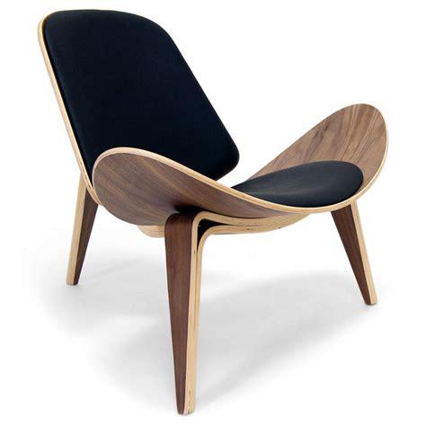 modern leather chair chicago modern walnut black leather chair eurway