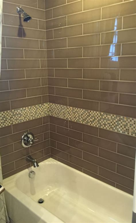 brown subway tile bathroom brown glass subway tile for bathroom shower home