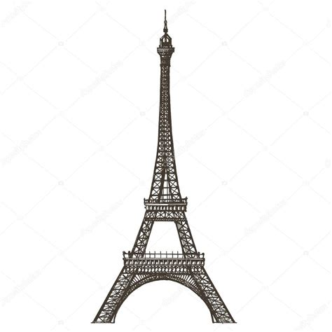 eiffel tower template eiffel tower vector logo design template or
