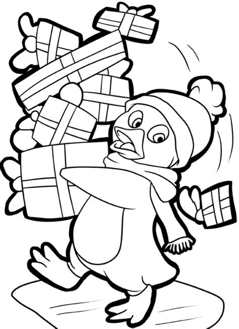 coloring pages christmas penguins christmas penguin coloring pages printable az coloring pages