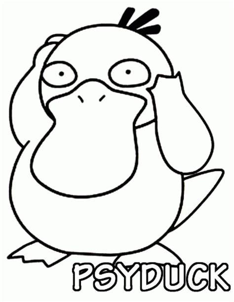 pokemon coloring pages golduck pokemon coloring page 054 psyduck coloring pages