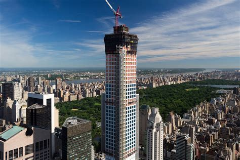 Floor Plans 1000 Square Feet by Construction On 432 Park Avenue Reaches 1000 Ft In New York