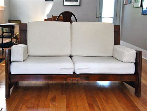 door couch before after sofa made from old doors design sponge