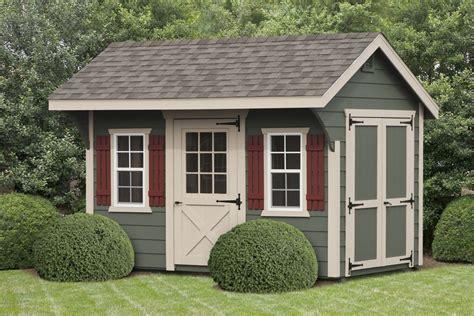 deluxe quaker shed  lp lap siding  outdoor