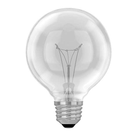 60 watt clear globe light bulb ge 60 watt incandescent g25 globe
