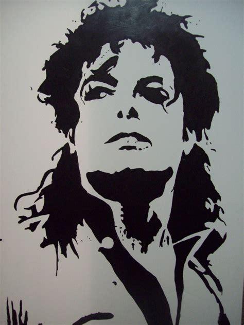 stencil pattern artists michael jackson stencil iii by tresbigdog cuadros para