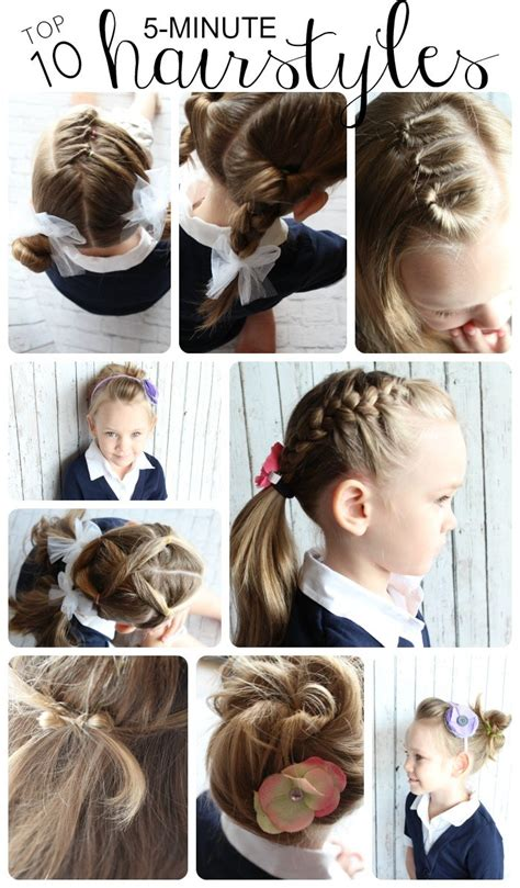 best easy and quick hairstyles 10 easy hairstyles for girls somewhat simple