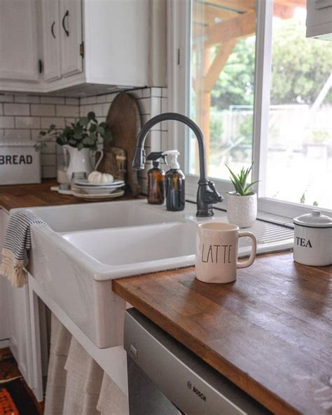 retro kitchen redo apron sink vintage apron and custom farmhouse apron front sink butcher block countertops