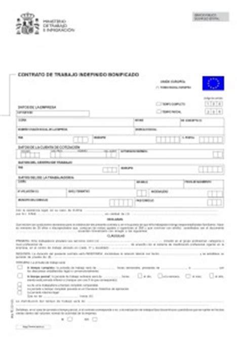 contrato general de empleo descargue plantillas de modelos contrato de trabajo indefinido bonificado