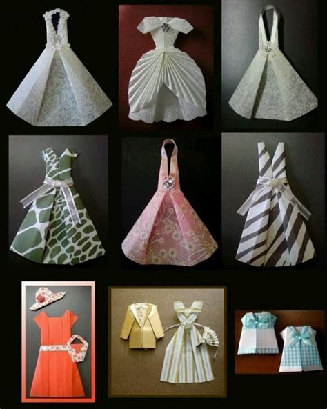 Diy Papercraft - fashion dresses made from paper pictures photos and