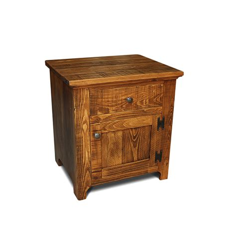 night tables rustic shaker end table night stand