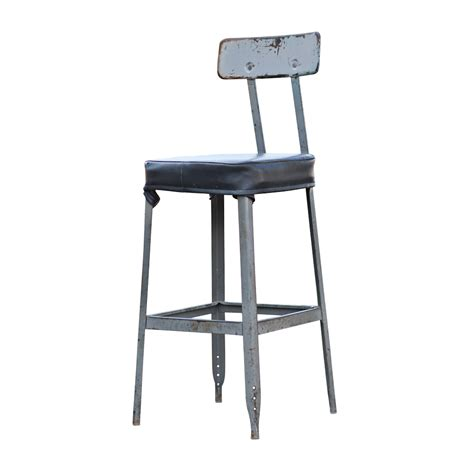 vintage industrial age bar stool task chair ebay