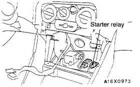 Chrysler Sebring Electrical Problems 1998 Chrysler Sebring Starter Relay Electrical Problem