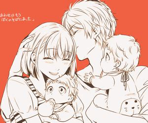 anime family with baby www pixshark com images
