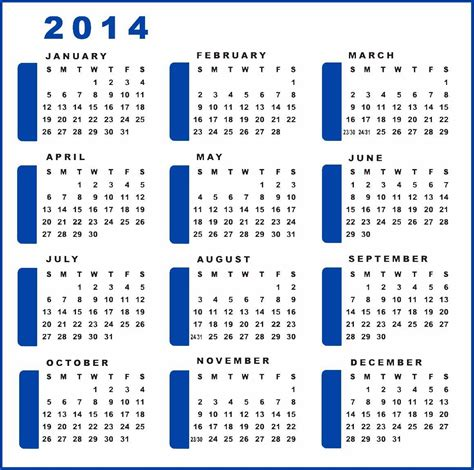 2014 yearly calendar template yearly calendar 2014 printable calendar 2014 blank