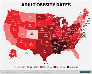 united states obesity map obesity rates top 30 percent in half of the states complex