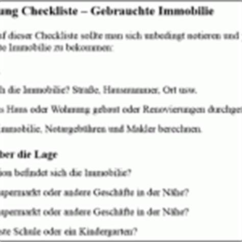 Checkliste Hausbesichtigung by Franchise Vertrag Checkliste