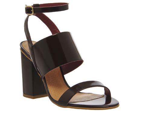 Office Heels 9cm office time 3 block heel sandals in purple lyst