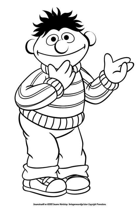 ernie coloring pages az coloring pages